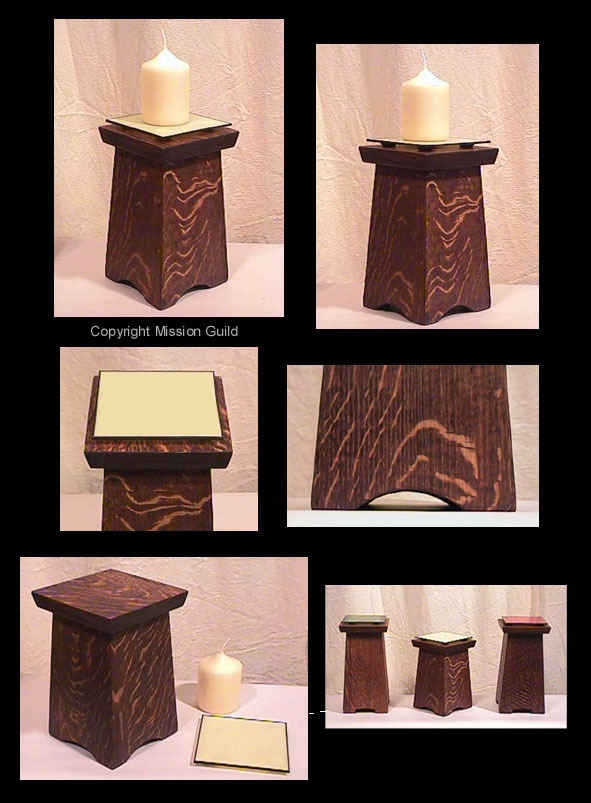 Arts And Crafts And Mission Candle Holder Pedestal