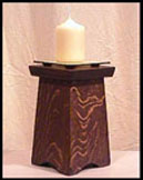 Arts and crafts and mission candle holders pedestal for Arts and crafts candle sconces