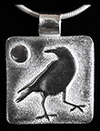 Crow Harvest Moon Silver Necklace