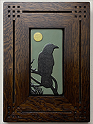 Framed Crow Raven With Moon Art Tile Click To Enlarge