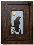 Framed Raven Crow Full Moon Tile Click To Enlarge