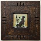 Dog Labrador Retriever Framed Tile Click To Enlarge