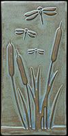 Enlarge Dragonfly Cattails Tile