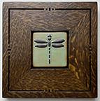 Framed Dragonfly Tile Click To Enlarge