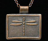 Arts & Crafts Copper Dragonfly Necklace