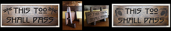 This Too Shall Pass Arts & Crafts Wooden Signs, Framed Tile Easels Mission Guild Studio