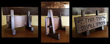 Arts & Crafts Mission Oak Wooden Easel Click To Enlarge