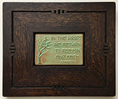 Framed Emerson In The Woods Motto Tile Click To Enlarge