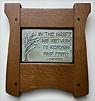 Framed Ralph Waldo Emerson In The Woods Motto Quote Tile Click To Enlarge