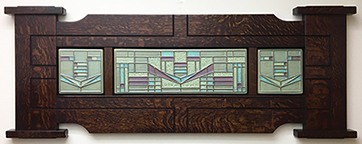 Framed Frank Lloyd Wright Prairie Panel Inspired Art Tile Triptych Click To Enlarge