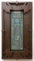 Framed Frank Lloyd Wright Prairie Panel Inspired Art Tile Click To Enlarge