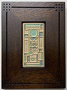 Frank Lloyd Wright Inspired Prairie Framed Tile Click To Enlarge