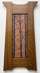 Forest Trees Autumn Mottle Glaze Fumed Finish Framed Tile Click To Enlarge