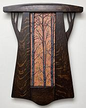 Forest Trees Autumn Mottle Glaze Framed Tile Click To Enlarge