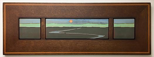 Landscape Stream Byrdcliffe Inspired Framed Tile Display Click To Enlarge