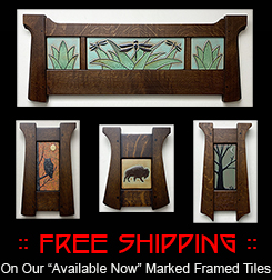 FREE SHIPPING On Our Available Now Marked Framed Tiles