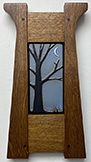 Tree With Crescent Moon Framed Art Tile Click To Enlarge