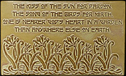 Dorothy Gurney Kiss of The Sun Garden Motto Tile