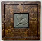 Framed Ginkgo Leaf Art Tile Click To Enlarge