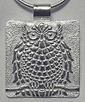 Arts & Crafts Voysey Insp Great Horned Owl Necklace