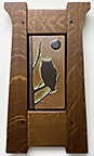 Great Horned Owl With Full Moon Framed Tile Click To Enlarge