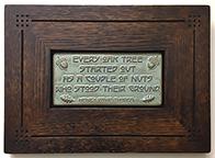 Framed Henry David Thoreau Motto Tile Click To Enlarge