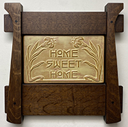 Home Sweet Home Art Nouveau Lily Flowers Framed Art Tile Click To Enlarge