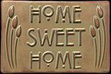 Home Sweet Home Mackintosh Buds Motto Tile