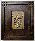 Hops Plant Bud Craft Brewery Beer Framed Art Tile Click To Enlarge
