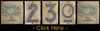 Arts & Crafts House Numbers Tiles