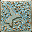 Hummingbird in Flowers Art Tile Click To Enlarge
