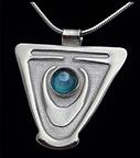 Arts & Crafts Nouveau Jugendstil Heritage Silver Necklace Rainbow Topaz