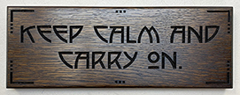 Keep Calm and Carry On Motto Quote Wooden Wall Sign Click To Enlarge