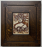 Framed Woman With Crown And Gown Art Nouveau Tile Click To Enlarge