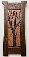 Autumn's Oak Tree Lanky Tree Framed Tile Click To Enlarge
