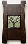 Framed Live Oak Tree Art Tile Click To Enlarge
