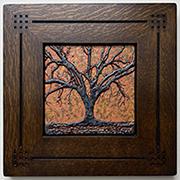 Live Oak Tree Framed Art Tile Click To Enlarge
