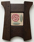 Framed Mackintosh Nouveau Glasgow Rose Art Tile Click To Enlarge