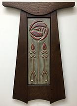 Framed Mackintosh Nouveau Glasgow Rose With Buds Art Tile Click To Enlarge