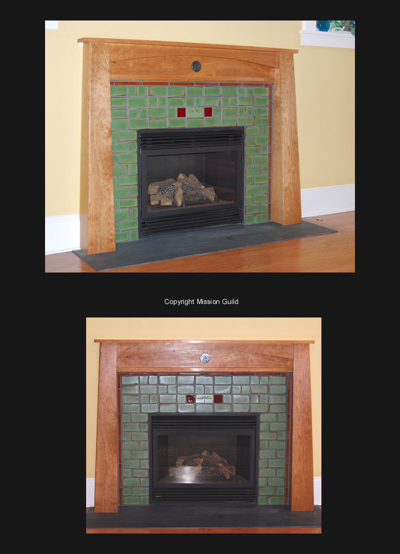 Arts & Crafts Fireplace Tiles and Mantels, Fireplace Mantels ...