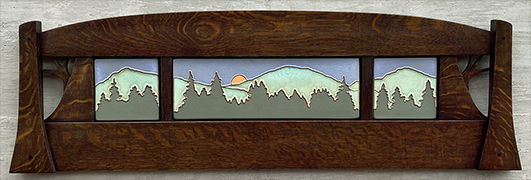 Pinescape Framed Pine Trees Tile Triptych Display Click To Enlarge