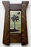 Palm Tree Ocean Beach Framed Tile Click To Enlarge