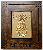 Pineapple Welcome Hospitality Framed Tile Click To Enlarge