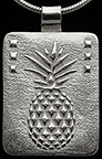 Pineapple Hospitality Silver Necklace