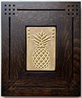 Pineapple Hospitality Framed Art Tile Click To Enlarge