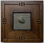Framed Pinecone Art Tile Click To Enlarge