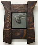 Framed Pinecone Tile Click To Enlarge
