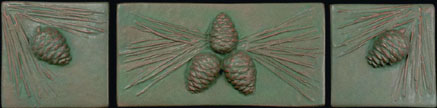 Arts & Crafts Pinecone Tile Click To Enlarge