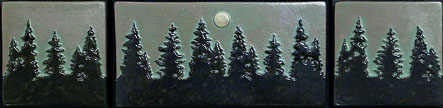 Pine Treescape With Moon Tile Set Small