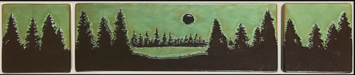 Pine Treescape With Moon Tile